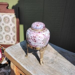 Asian hand painted jar